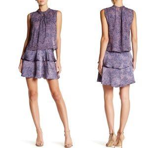 Rebecca Taylor • Static Twist Neck Silk Dress